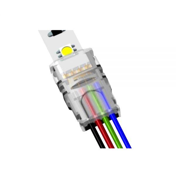 CONNECTEUR PRO POUR CONNECTER CABLE SUR STRIPLED RGB IP20 MAXI 5A 0-3