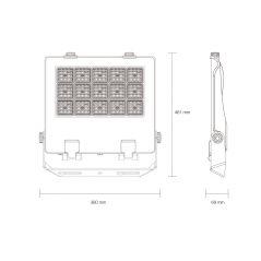 PROJECTEUR STADE MIAMI 200 W28000 lm IP 66 60° 461x380x69mm