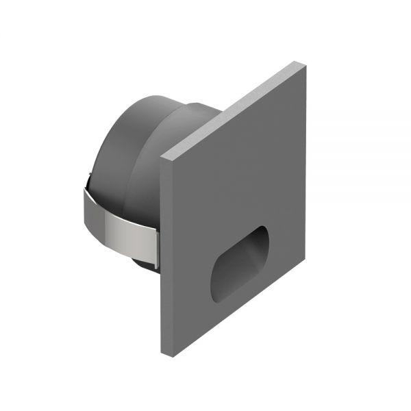 MINI SPOT CARRE 1W 100-110lm IP20 45x45x26mm NOIR