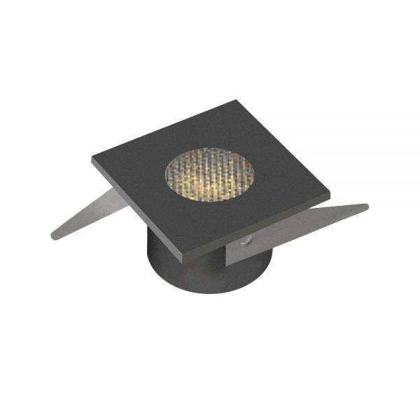 MINI SPOT CARRE 1W 100-110lm IP20 30° 35x35x22mm NOIR
