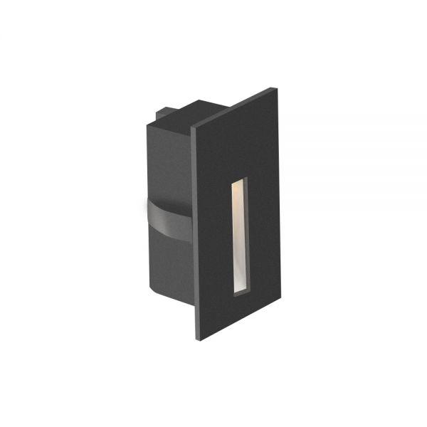 MINI SPOT 150° 3W 300-330lm IP20 150° 80x40x31mm NOIR